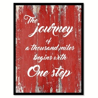 The Journey Of A Thousand Miles Lao Tzu Motivation Saying Canvas Print Picture Frame Home Decor Wall Art