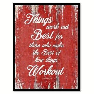 Things Work Out Best John Wooden Canvas Print Picture Frame Home Decor Wall Art