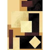 """Cambridge Modern Block Multi Color Area Rug - 5'3"""" x 7'6"""""""
