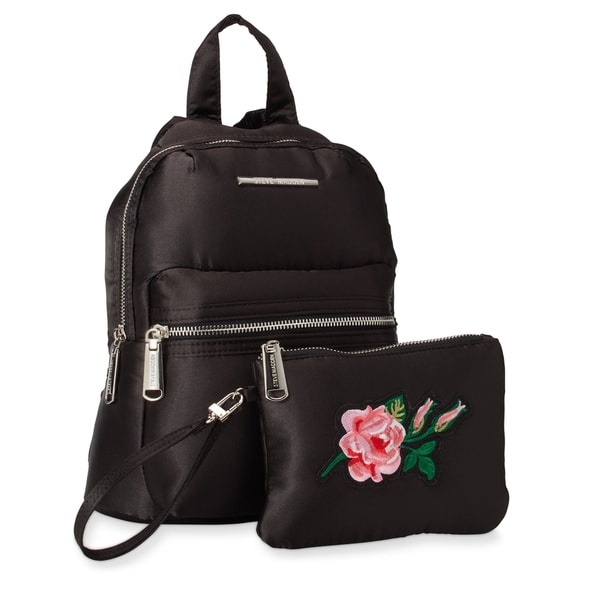 Steve Madden BKris Fashion Mini Backpack w/Floral Pouch