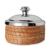 Handmade Extra Small Woven Basket with Lid (Mexico)