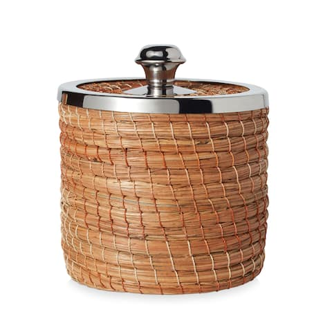 Handmade Small Woven Basket with Lid (Mexico)