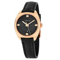 18571effcf8 Gucci Women s  GG2570  Black Dial Black Leather Strap Swiss Quartz Watcheel  Swiss Quartz Watch. Sale