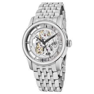 Oris Men's 734 7684 4051 MB 'Artelier Translucent' Skeleton Dial Stainless Steel Swiss Automatic Watch