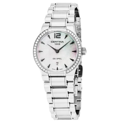Certina Women's C012.209.61.117.00 'DS Spel Lady Round' Mother of Pearl Dial Stainless Steel Swiss Quartz Watch