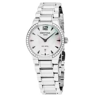 Certina Women's C012.209.61.117.00 'DS Spel Lady Round' Mother of Pearl Dial Stainless Steel Swiss Quartz Watch|https://ak1.ostkcdn.com/images/products/18000773/P24172034.jpg?impolicy=medium
