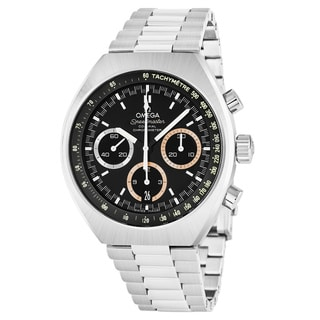 Omega Men's 522.10.43.50.01.001 'Speedmaster Olympic Games Collection' Black Dial Stainless Steel Swiss Automatic Watch