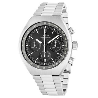 Omega Men's 327.10.43.50.01.001 'Speedmaster' Black Dial Stainless Steel Chronograph Swiss Automatic Watch