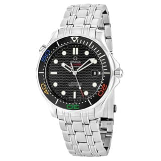 Omega Men's 22.30.41.20.01.001 'SeaMasterRio2016' Black Dial Stainless Steel Swiss Automatic Watch|https://ak1.ostkcdn.com/images/products/18000828/P24172059.jpg?impolicy=medium