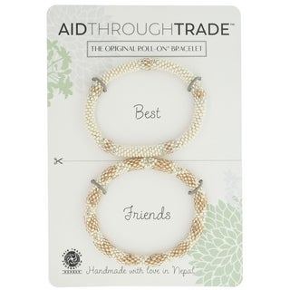 Handmade Roll-On Friendship Bracelets - Rose All Day (Nepal)