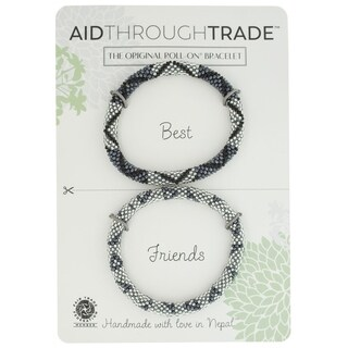 Handmade Roll-On Friendship Bracelets - Slate (Nepal)