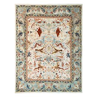 Peshawar Thaddeus Ivory/Gray Wool Rug (11'11 x 14'6) - 11 ft. 11 in. x 14 ft. 6 in.