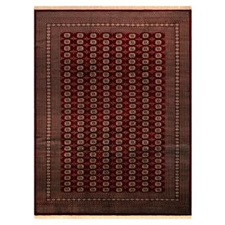 Bokara Arya Abr Red/Gold Wool Rug (9'1 x 12'3) - 9 ft. 1 in. x 12 ft. 3 in.