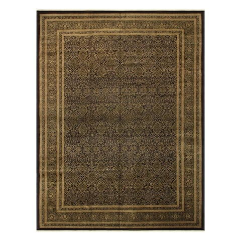 Heritage Shakira Brown/Green Wool Rug (12'2 x 17'0) - 12 ft. 2 in. x 17 ft. 0 in.