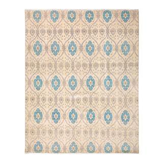 Arshs Kafkaz Peshawar Israel Ivory/Blue Wool Rug (11'8 x 14'11)