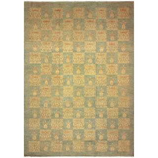 Kafkaz Peshawar Sarina Lt. Blue/Gold Wool Rug (12'0 x 17'4)