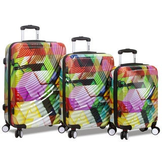 World Traveler Rolite 3-Piece Lightweight Hardside Spinner Luggage Set