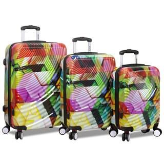 World Traveler Rolite 3-Piece Lightweight Hardside Spinner Luggage Set