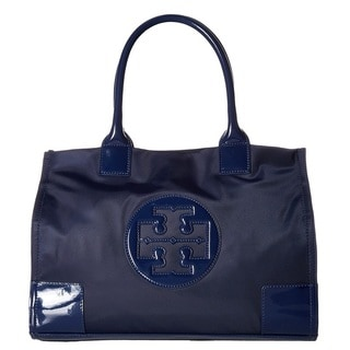 Tory Burch Ella French Navy Nylon Mini Tote Bag