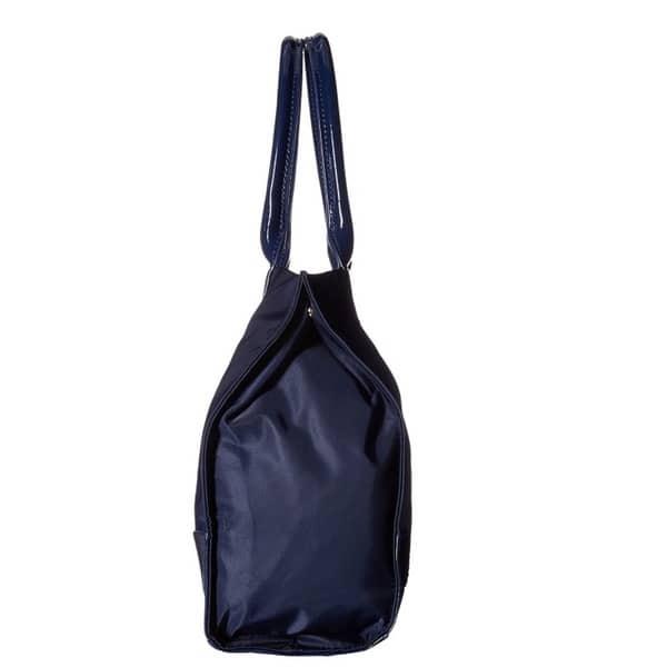 Shop Tory Burch Ella French Navy Nylon Mini Tote Bag Free