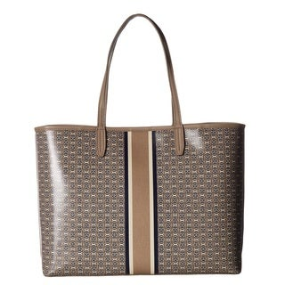 Tory Burch Gemini Link French Grey Tote Bag