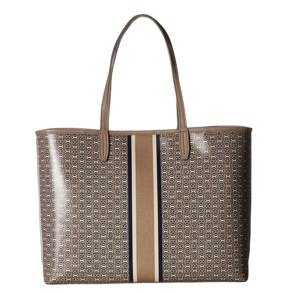 0dc87b0c052a Shop Tory Burch Gemini Link French Grey Tote Bag - On Sale - Free ...