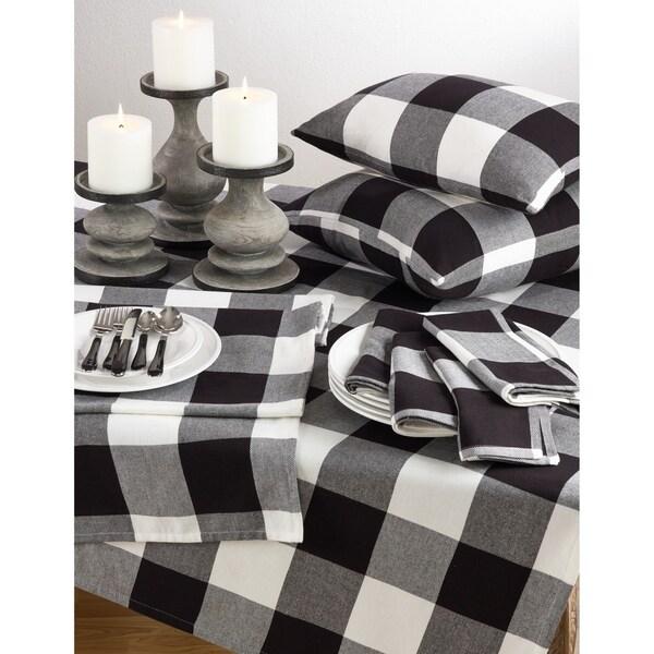 Buffalo Plaid Check Pattern Design Cotton Tablecloth