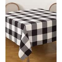 Buffalo Plaid Check Pattern Design Cotton Tablecloth