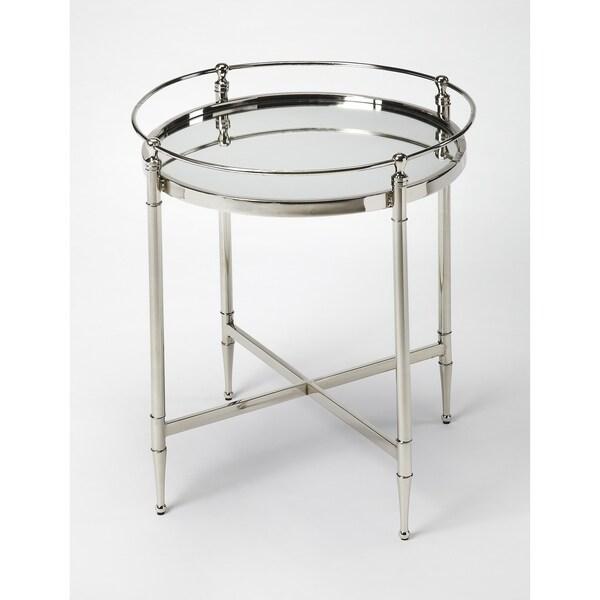 Butler Crosby Metal U0026amp; Mirror End Table