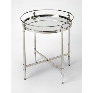 Butler Crosby Metal & Mirror End Table