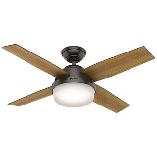 "Hunter 44"" Dempsey Ceiling Fan with LED Light Kit and Handheld Remote - Noble Bronze"