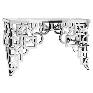 Console Table 58 in. x 18 in. x 35.5 in. in Clear