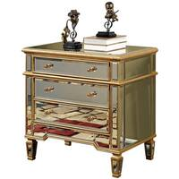 3 Drawer Cabinet 30 in. x 20 in. x 30 in. in Gold Leaf