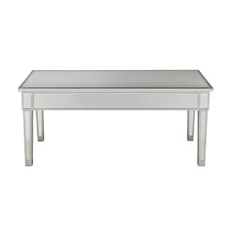 Reflexion Antique Silver Paint Wooden 40-inch Coffee Table