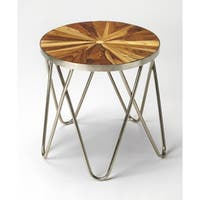 Butler Hairpin Iron & Wood End Table