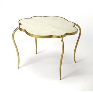 Butler Adria White Marble End Table