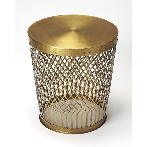 Butler Oliver Antique Gold End Table