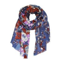 Handmade Veroma Women's Floral Wool Scarf (India)