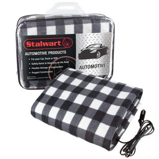 Electric Heater Car Blanket- Heated Travel Throw Electric Blanket for Car and RV, 12 volt by Stalwart- Black and White|https://ak1.ostkcdn.com/images/products/18002840/P24173667.jpg?impolicy=medium
