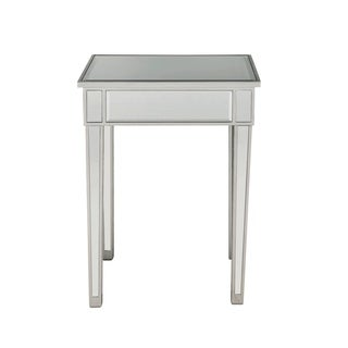 Antique Silvertone Wooden Contemporary End Table