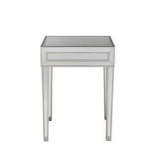 Antique Silver Wood 20-inch x 18-inch x 24-inch End Table