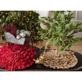 Tiered Ruffle Design Jute Christmas Mini Tree Skirt https://ak1.ostkcdn.com/images/products/18003029/P24173917.jpg?impolicy=medium