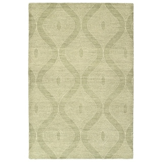 Bombay Home Brantley Sage Wool Hand-tufted Rug (3'6 x 5'6)