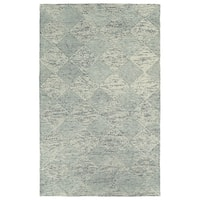 "Hand-Tufted Homa Grey Wool Rug - 3'6"" x 5'6"""