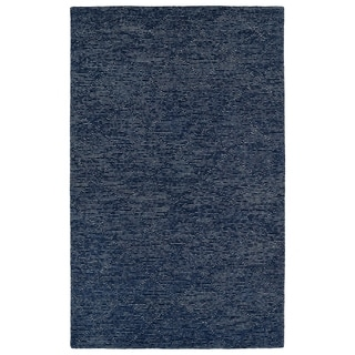 "Hand-Tufted Homa Navy Wool Rug - 3'6"" x 5'6"""