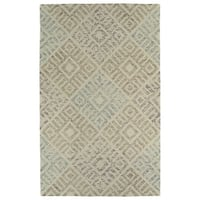 "Hand-Tufted Homa Beige Wool Rug - 3'6"" x 5'6"""