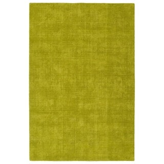 Bombay Home Tula Lime Green Handmade Area Rug (3'6 x 5'6)