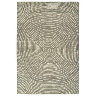 """Hand-Tufted Brantley Grey Wool Rug - 3'6"""" x 5'6"""""""