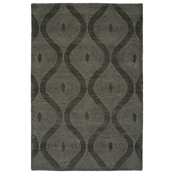 "Hand-Tufted Brantley Charcoal Wool Rug - 3'6"" x 5'6"""
