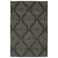 "Hand-Tufted Brantley Charcoal Wool Rug - 3'6"" x 5'6"""
